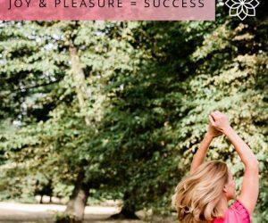 #13: JOY & PLEASURE = SUCCESS
