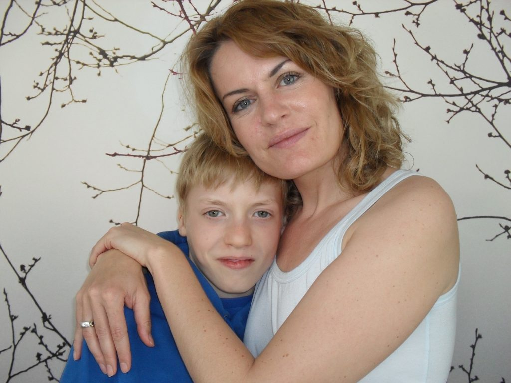 Ninka-Bernadette Mauritson and her son after the turnaround process. She had to stop being a victim to turn autism around.